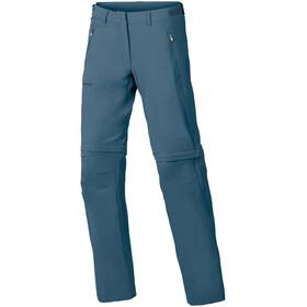 VAUDE Farley Stretch Zip-Off T-Zip bukser Damer, blå